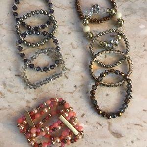 Stretch Beaded Stackable Bracelets
